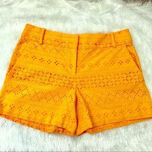 Mustard Yellow Riviera Loft shorts